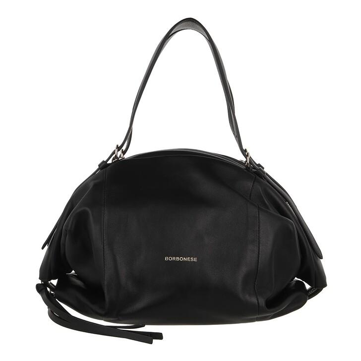 bags, Borbonese, Medium Bubble Bag Black
