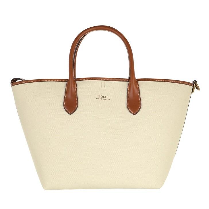 Handtasche, Polo Ralph Lauren,  Open Tote Medium Natural