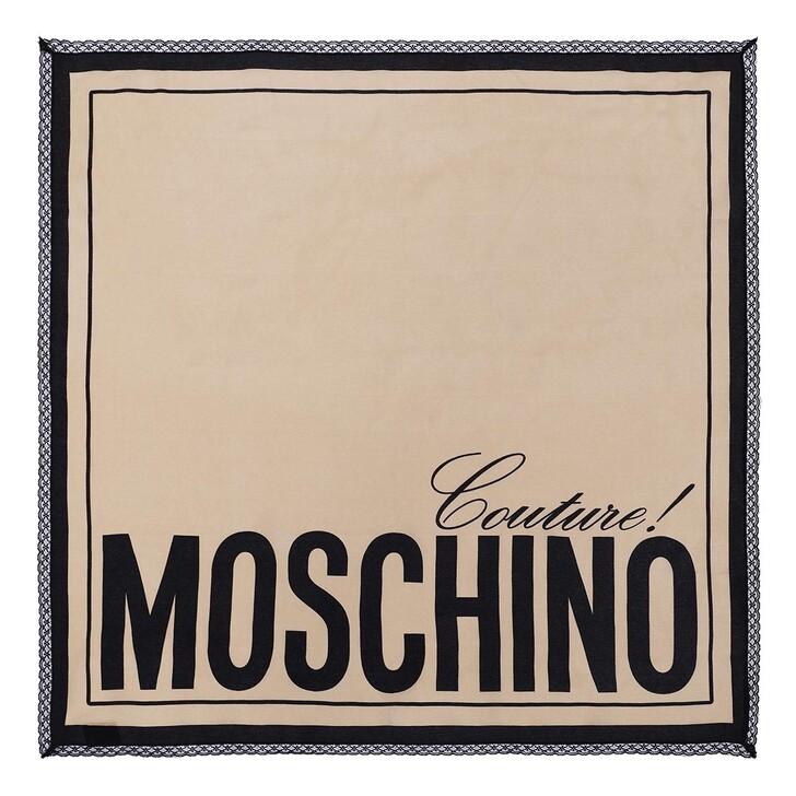 scarves, Moschino, Foulard Beige