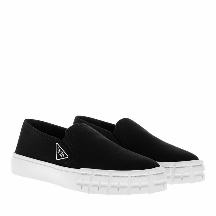 shoes, Prada, Slip On Sneakers Black