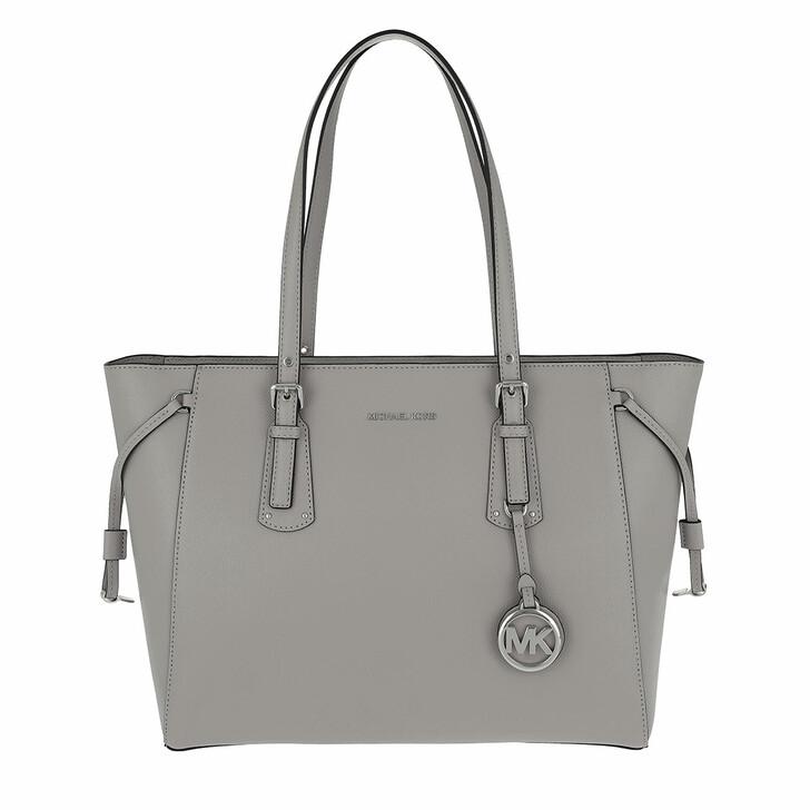 bags, MICHAEL Michael Kors, Medium Mf Tz Tote Pearl Grey