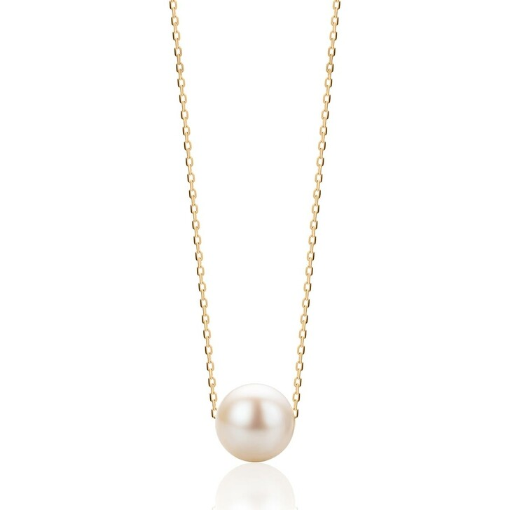 Kette, DIAMADA, 14KT Pearl Necklace Yellow Gold