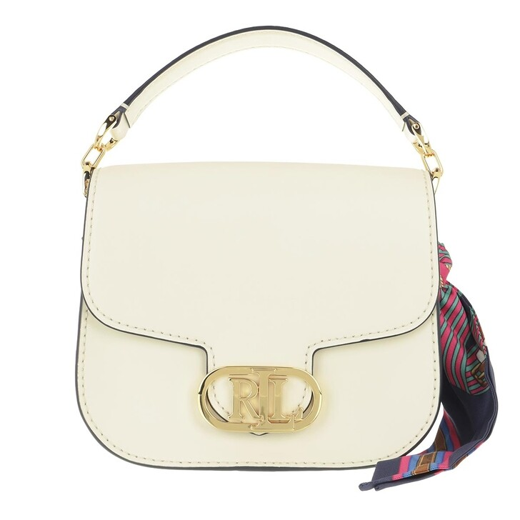 bags, Lauren Ralph Lauren, Addie 19 Crossbody Small Vanilla/Eqst Blt Lrn Navy