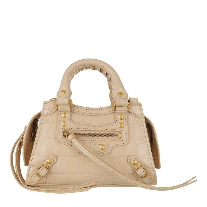 Handtasche, Balenciaga, Neo Classic Nano Tote Bag Leather Light Beige