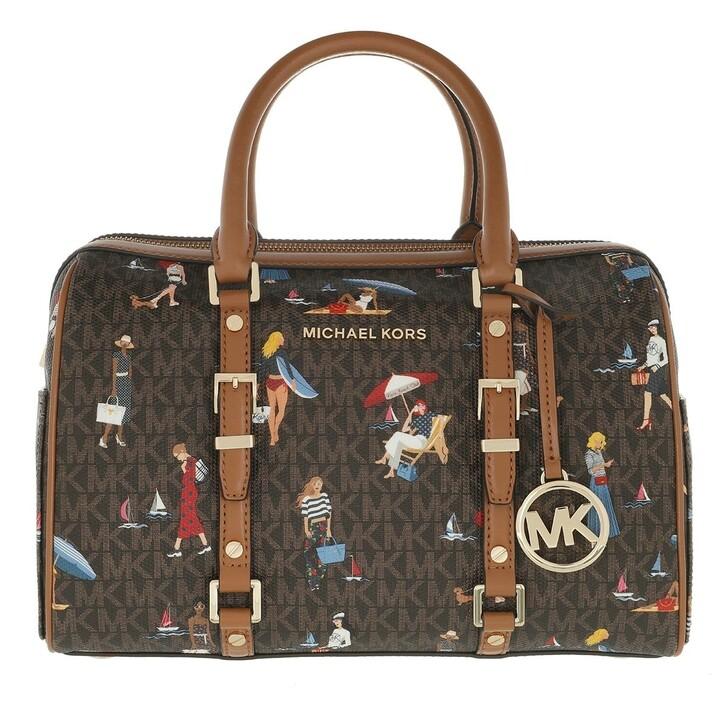 Handtasche, MICHAEL Michael Kors, Medium Duffle  Handbag   Brown Multi