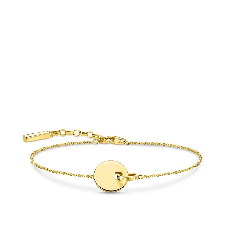 Armreif, Thomas Sabo, Bracelet Together Coin With Gold-Coloured Ring