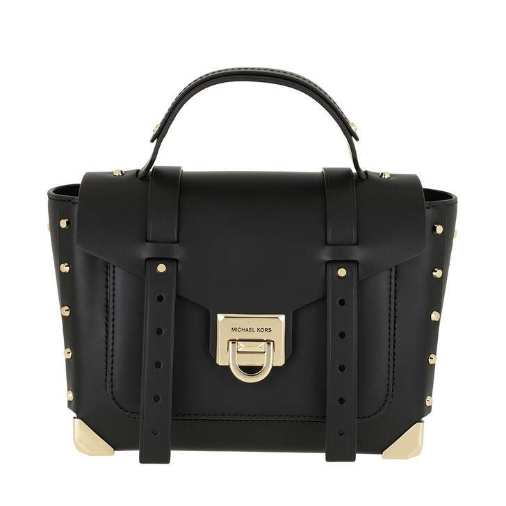 Handtasche, MICHAEL Michael Kors, Manhattan MD School Satchel Bag Black