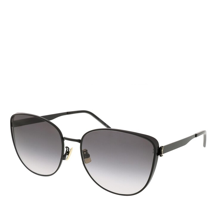 sunglasses, Saint Laurent, SL M89-002 61 Sunglass Woman Metal Black-Black-Grey