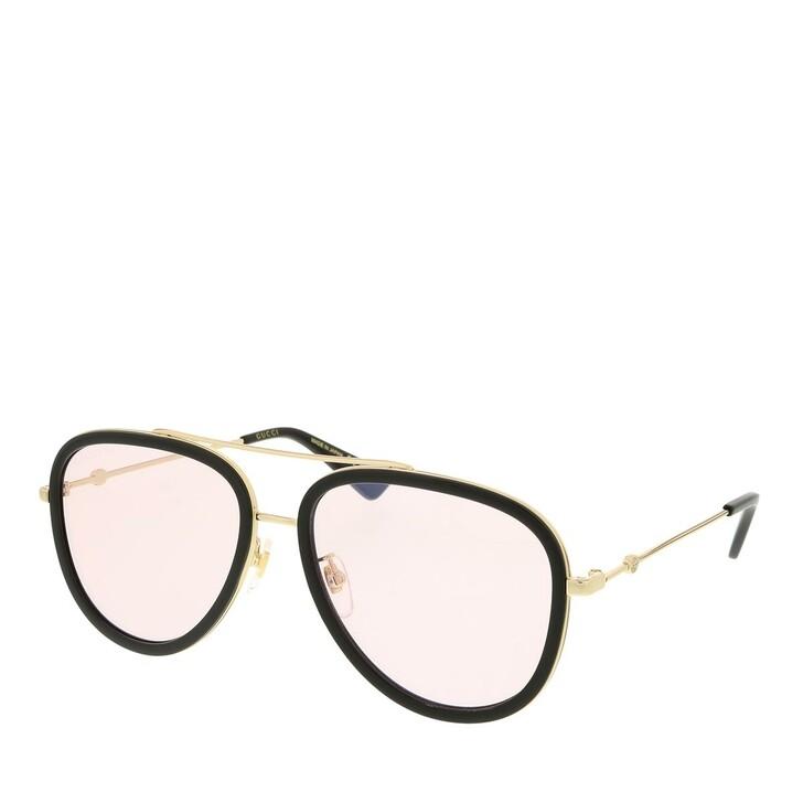 sunglasses, Gucci, GG0062S-019 57 Sunglass Woman Photocromatic Lens & Blue Blocker Gold-Pink