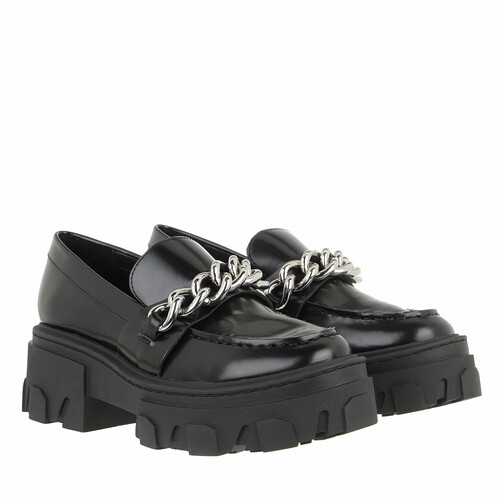 the kooples -  Loafers & Ballerinas - Ice Leather Moccasins with Large Chain - in schwarz - für Damen