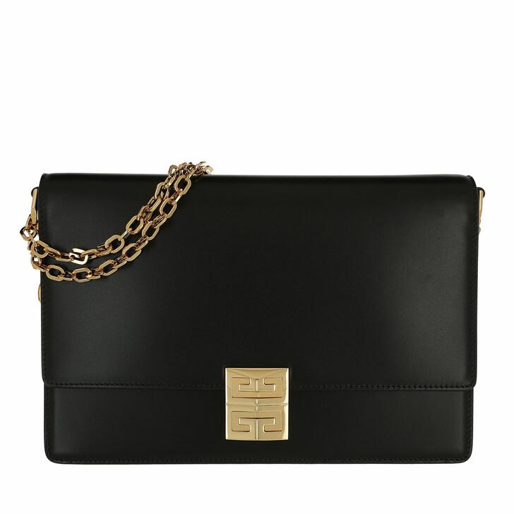 bags, Givenchy, 4G Chain Bag Calf Medium Black
