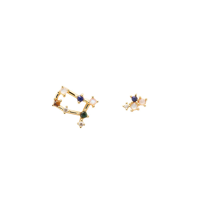 Ohrring, PDPAOLA, Earrings GEMINI Yellow Gold