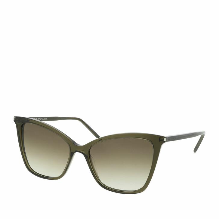 Sonnenbrille, Saint Laurent, SL 384-004 55 Sunglass WOMAN ACETATE Green