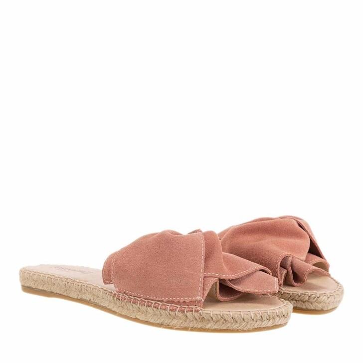 shoes, Espadrij l'originale, PLAGE BOUCLE VELOUR poudre