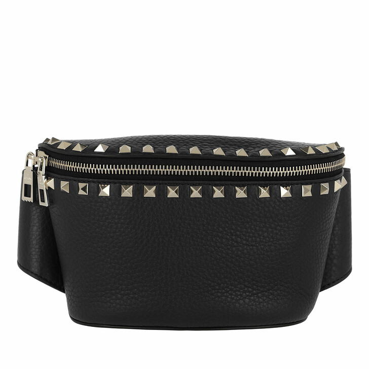 Gürteltasche, Valentino Garavani, Rockstud Belt Bag Calf Leather Nero