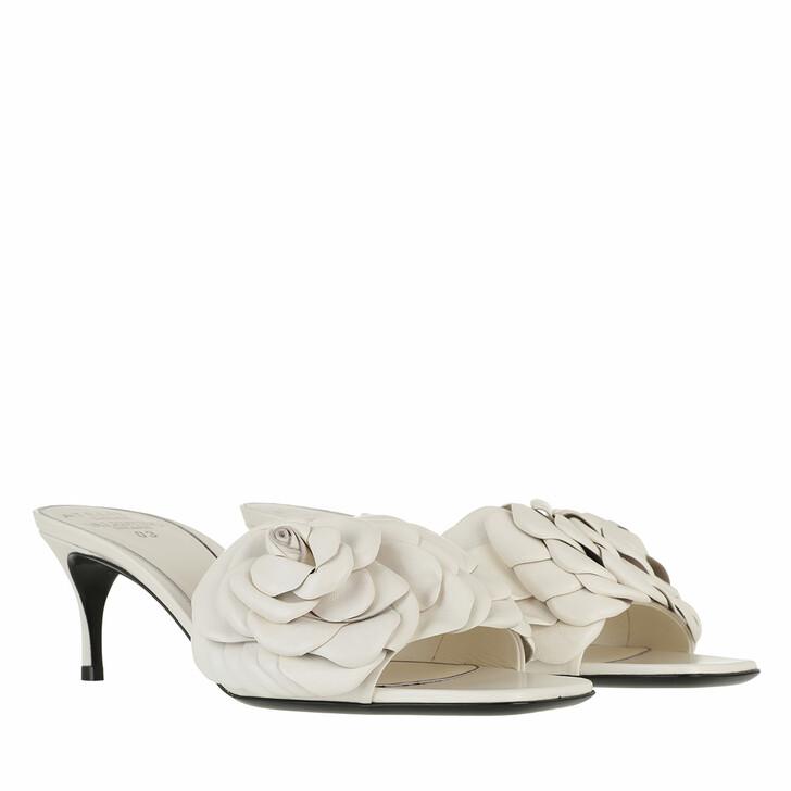 Schuh, Valentino Garavani, Atelier Flat Sandals Leather Ivory