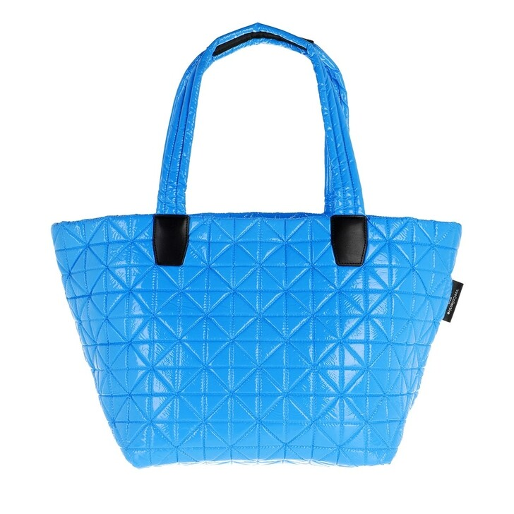 bags, VeeCollective, Medium Vee Tote Vinyl Atomic Blue