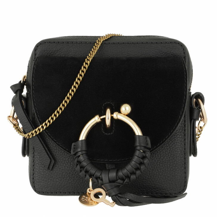 bags, See By Chloé, Joan Camera Bag Leather Black