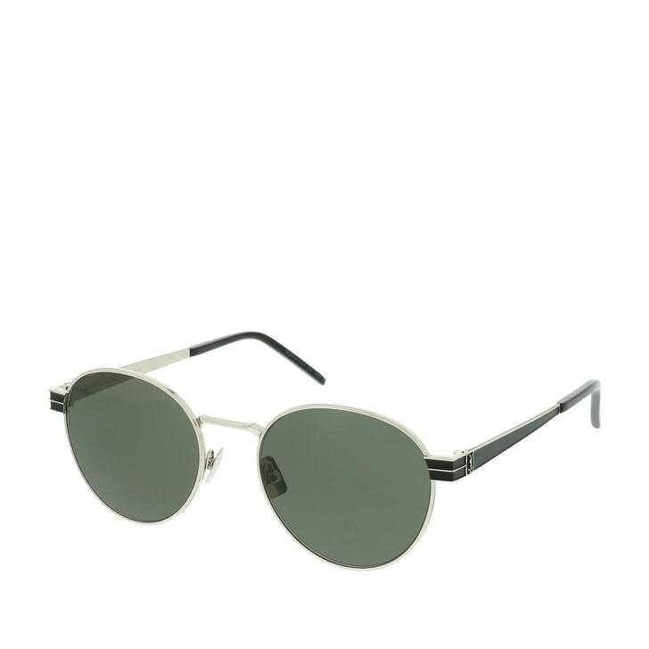 Sonnenbrille, Saint Laurent, SL M62-001 52 Sunglasses Silver-Silver-Grey