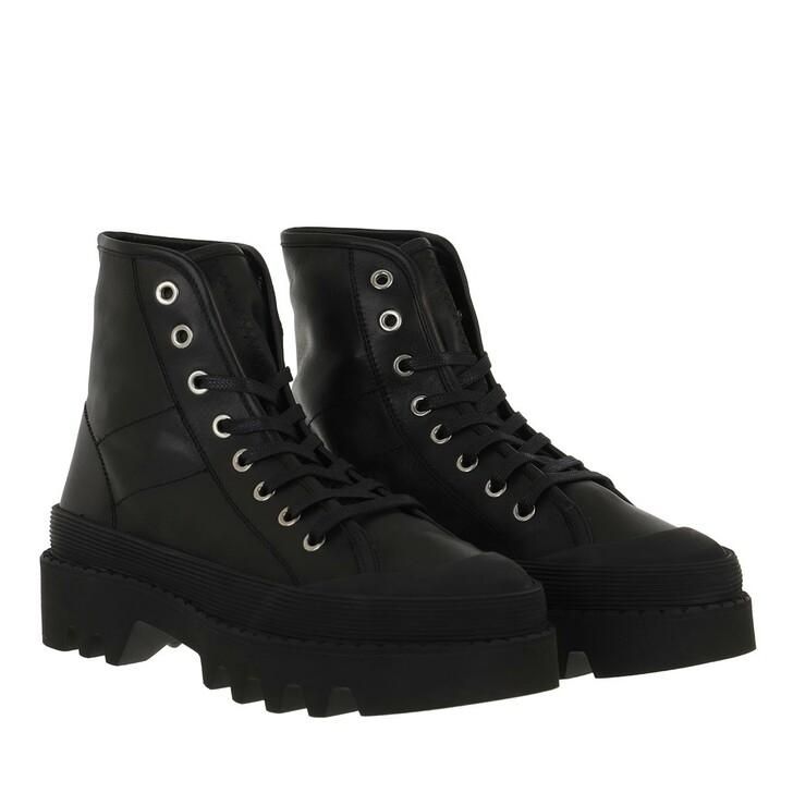 Schuh, Proenza Schouler, City Lace Up Boot Black