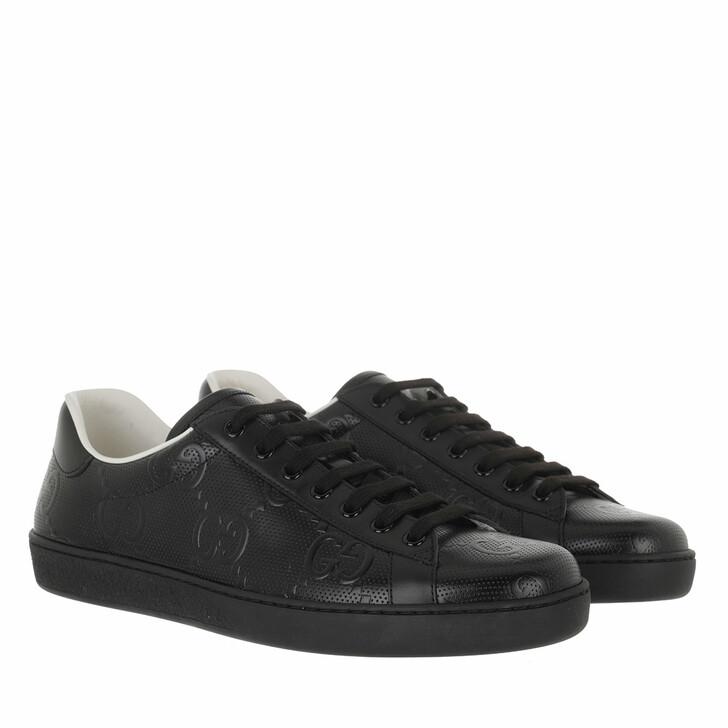 shoes, Gucci, Men GG Ace Sneaker Black