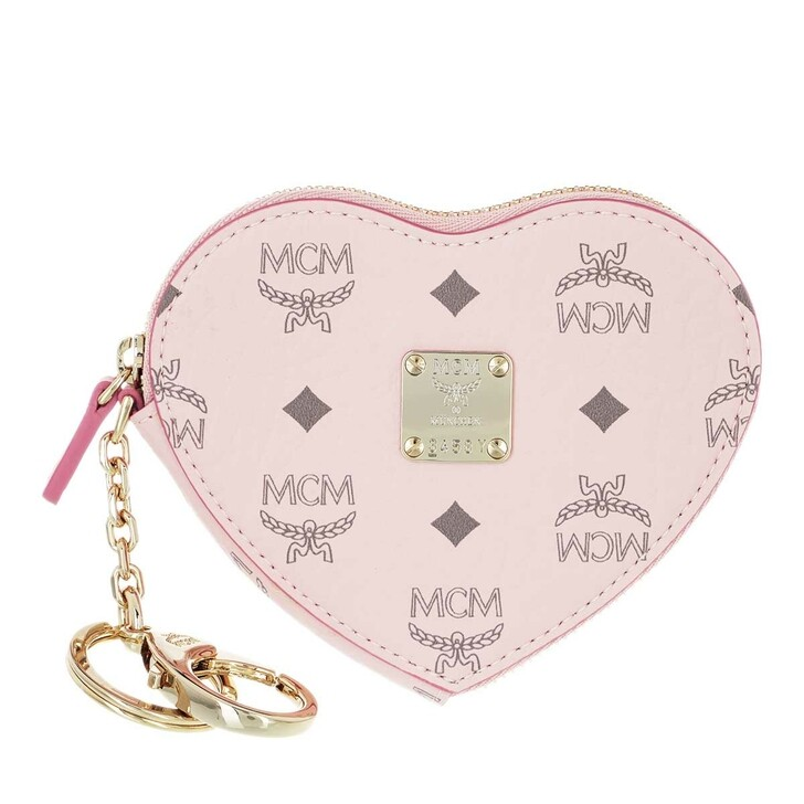 wallets, MCM, Visetos Org Heart Coin Wallet  Qh Powder Pink