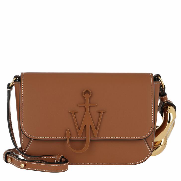 Handtasche, J.W.Anderson, Chain Midi Anchor Crossbody Bag Pecan