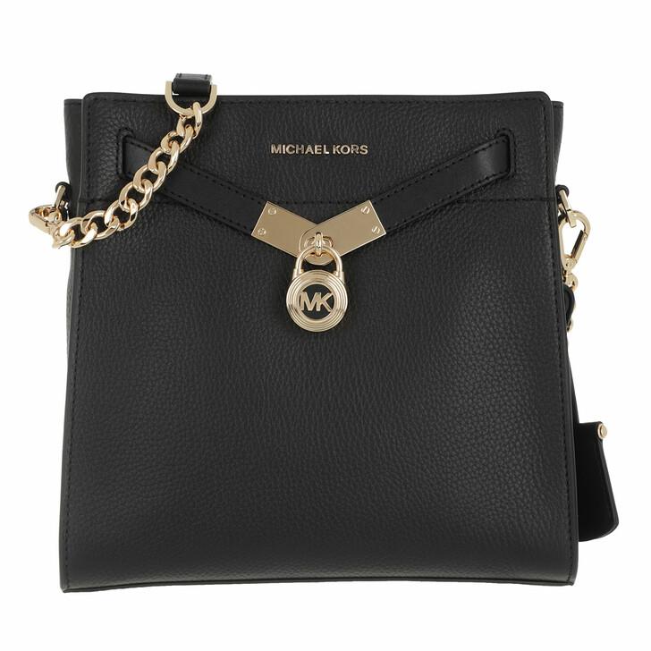 Handtasche, MICHAEL Michael Kors, Nouveau Hamilton Messenger Bag Black