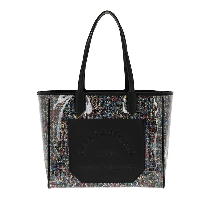 Handtasche, Karl Lagerfeld, Journey Tweed Shine Tote Black