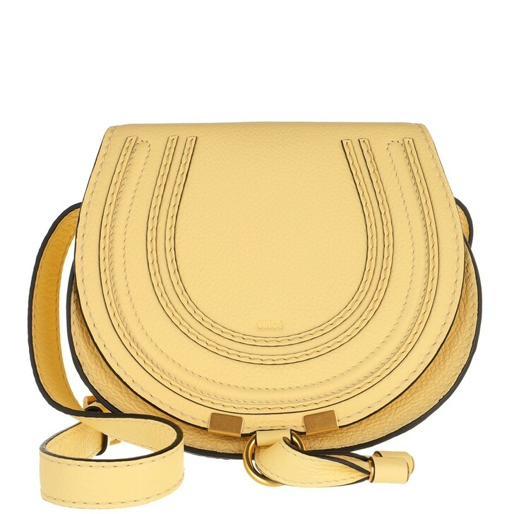 Handtasche, Chloé, Marcie Round Small Bag Softy Yellow