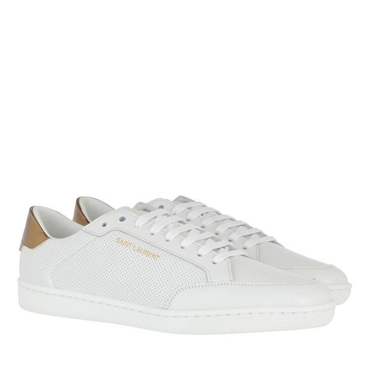 Schuh, Saint Laurent, Andy Sneakers White/Gold