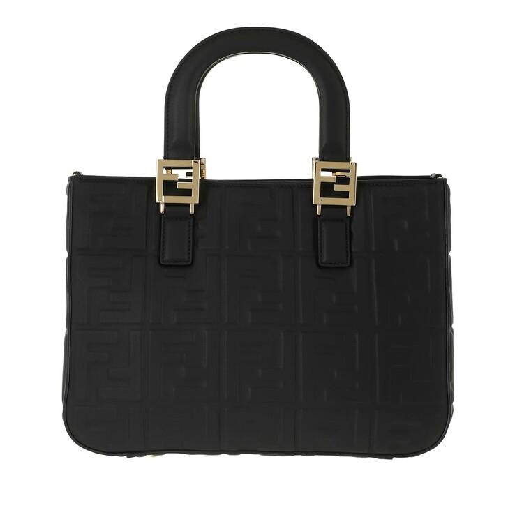Handtasche, Fendi, FF Monogramme Handle Bag Black
