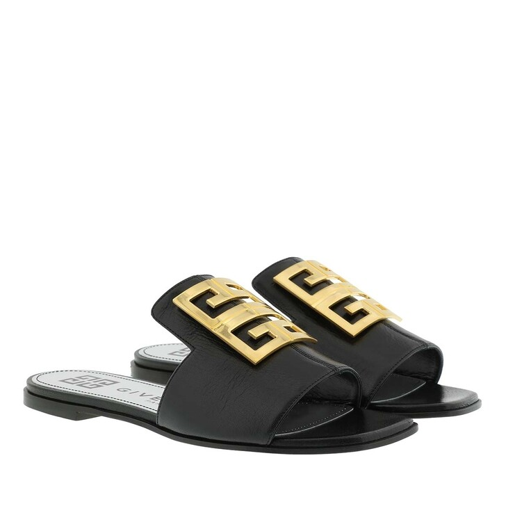 Schuh, Givenchy, 4G Sandals Grained Leather Black