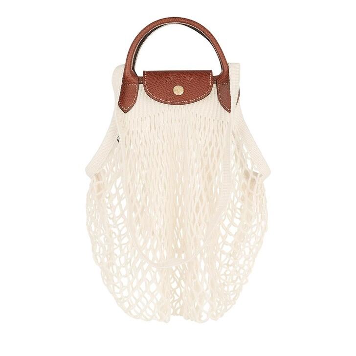 bags, Longchamp, Le Pliage Filet Shoulder Bag Ecru