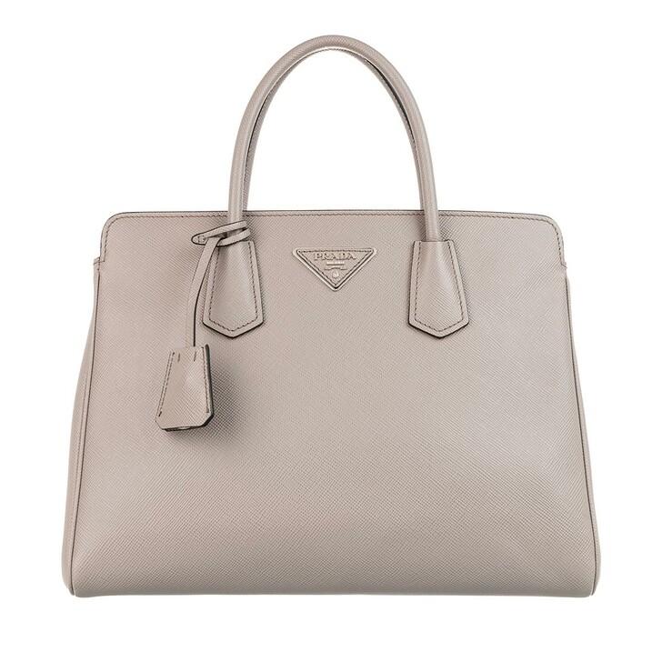 Handtasche, Prada, Shoulder Bag Leather Argilla
