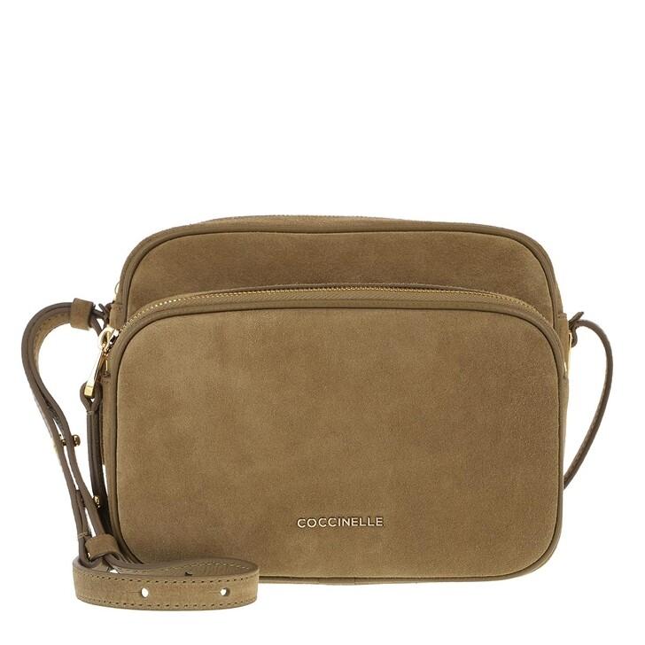 Handtasche, Coccinelle, Lea Suede Crossbody Bag Moss Green