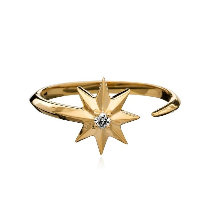 rings, Rachel Jackson London, Shooting Star Diamond Adjustable Ring Silver