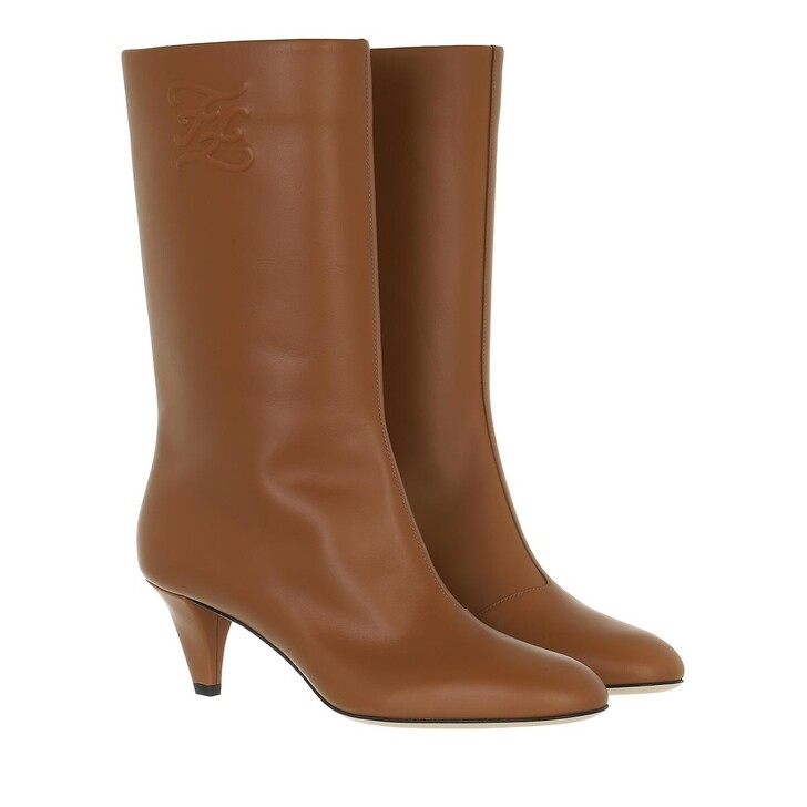 shoes, Fendi, Boots Leather Brown
