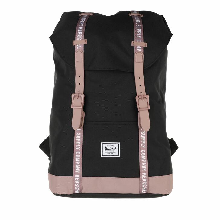 bags, Herschel, Retreat Mid Volume Backpacks Black/Ash Rose/White Rollcall