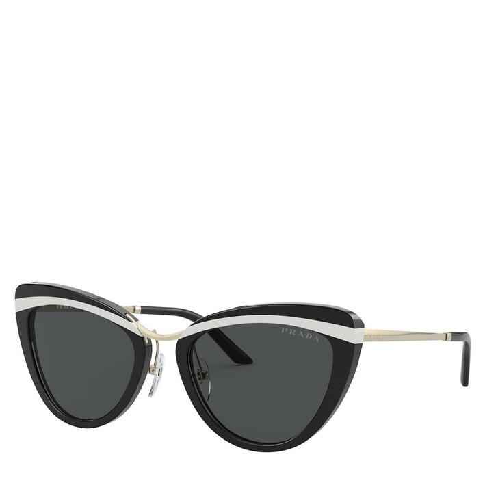 Sonnenbrille, Prada, AZETAT WOMEN SONNE BLACK/WHITE/BLACK