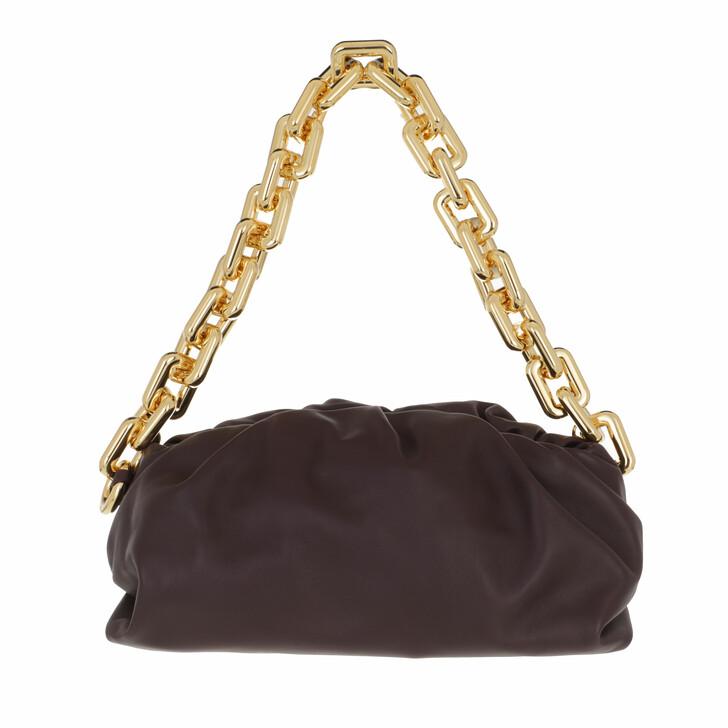 bags, Bottega Veneta, The Chain Medium Pouch Leather Grape/Gold