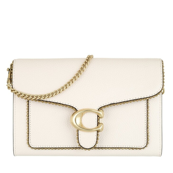 Handtasche, Coach, Polished Pebble Bead Chain Tabby Chain Clutch Chalk