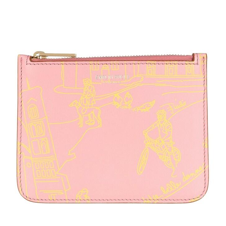 Handtasche, Emilio Pucci, Envelope Scorci Fiorent Rosa/Giallo