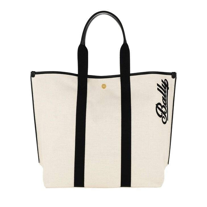 Handtasche, Bally, Canvas Tote Bag Medium Natural