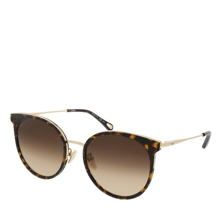 sunglasses, Chloé, CH0060SK-002 56 Sunglass Woman Bio Acetate Havana-Gold-Brown