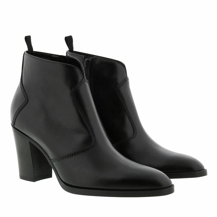 Schuh, Celine, Heel Ankle Boots Leather Black
