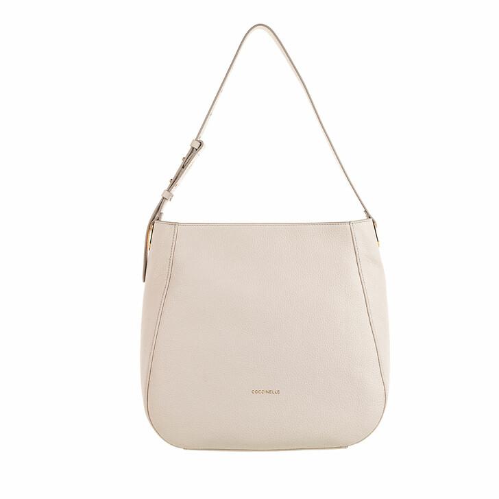 Handtasche, Coccinelle, Lea Shopper Lambskin White