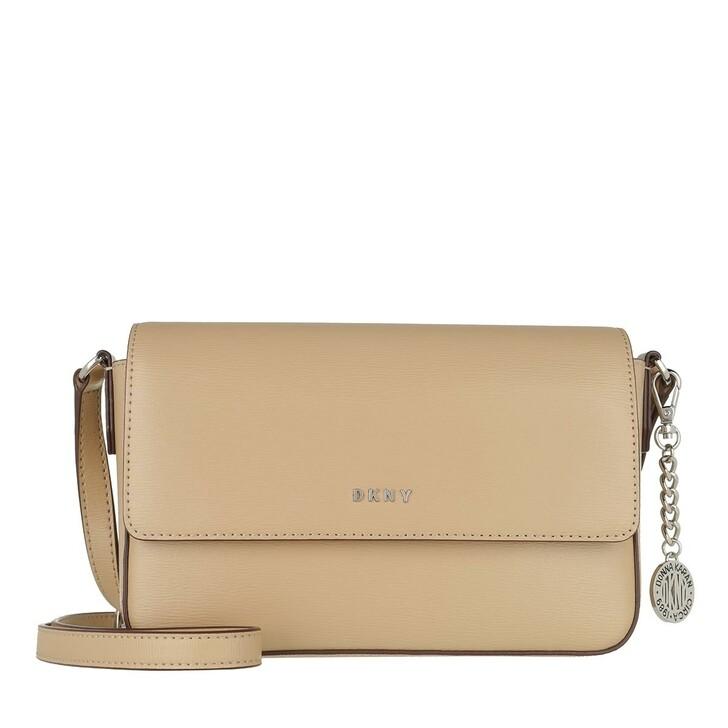 Handtasche, DKNY, Bryant Medium Flap Crossbody Jute