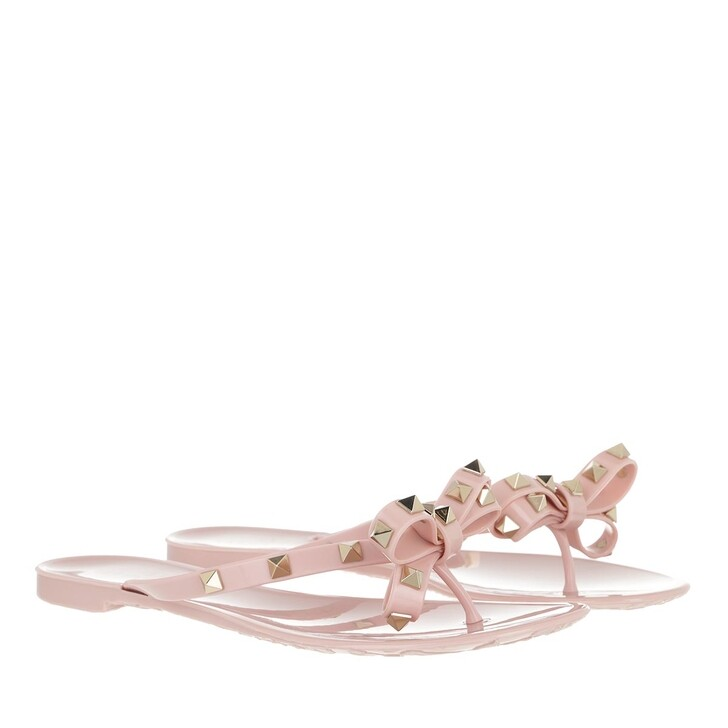 Schuh, Valentino, Rockstud Flip Flops Water Rose