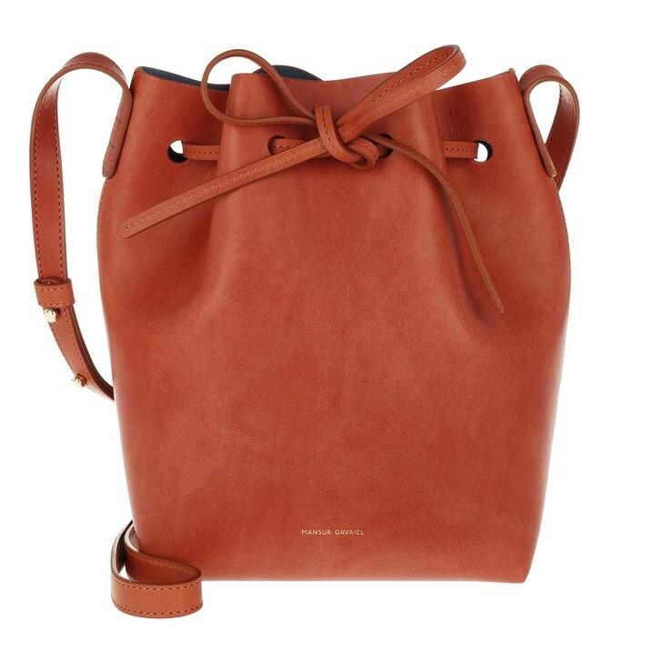 Handtasche, Mansur Gavriel, Mini Bucket Bag Brick Red